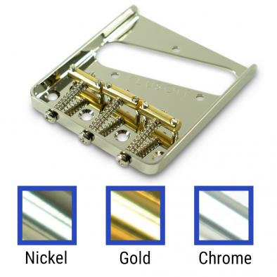 Kluson Left Hand Vintage Replacement Bridge For Fender Telecaster Steel With Brass Saddles