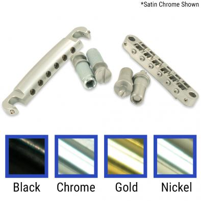 TonePros® Metric Tune-O-Matic/Tailpiece Set (Large Posts/Notched Saddles)