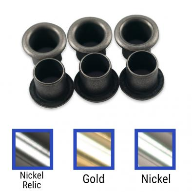 Kluson Replacement Stamped Eyelet Bushing Set For Deluxe Or Supreme Series Tuning Machines & Vintage Gibson Guitars