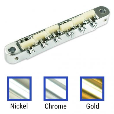 "TonePros® Replacement AVR2 Tune-O-Matic Bridge With Standard Nashville Post And ""G Formula"" Saddles"