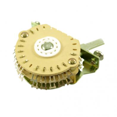 """Electroswitch Oak Grigsby 4 Pole Double Wafer Blade """"Super"""" Switch 5 Position"""