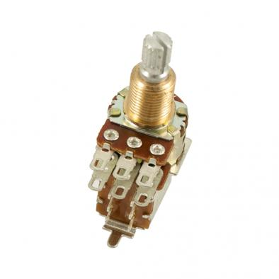 Bourns® Pro Audio PDB183 Mini Guitar Potentiometer With Push-Pull Switch ±20% Tolerance 250 kohm -500 kohm
