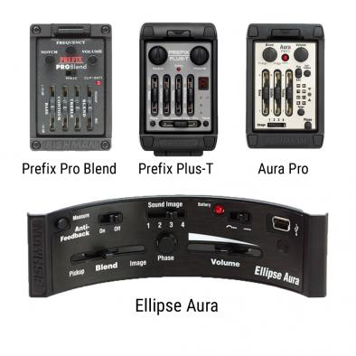 Fishman Prefix Pro Blend, Aura Pro, Prefix Plus-T, Or Ellipse Aura Onboard Preamp