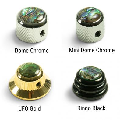 Q-Parts Knobs With Abalone Inlay