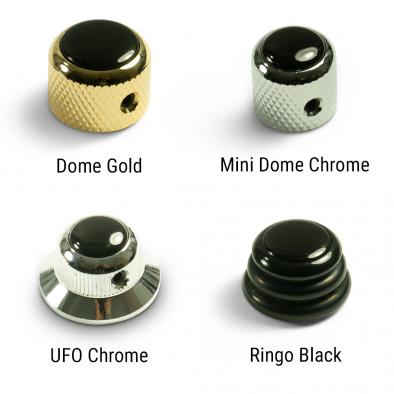 Q-Parts Knobs With Black Inlay