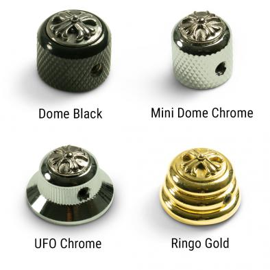 Q-Parts Knobs With Cross Inlay