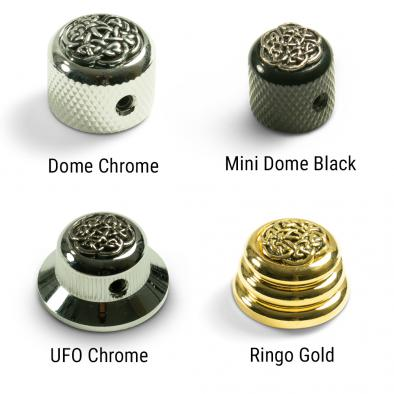Q-Parts® Knobs With Celtic Weave Inlay