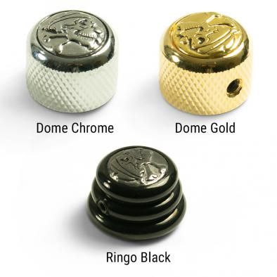 Q-Parts Knobs With Skull & Bones Inlay