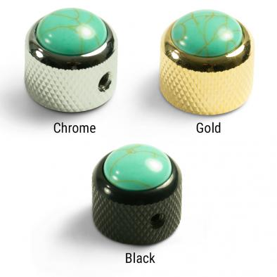 Q-Parts Knobs With Turquoise Inlay