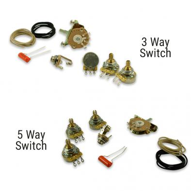 WD Upgrade Wiring Kit For Fender Stratocaster Style Guitars