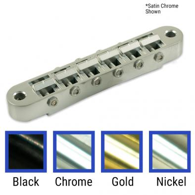 TonePros® Standard Tune-O-Matic Bridge With Small Posts And Notched Saddles