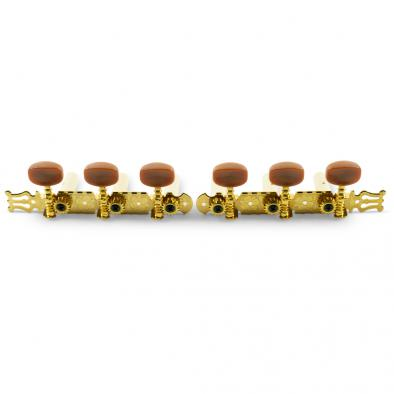WD® 3-On-A-Plate Classical Tuning Machines Gold With Shell Buttons