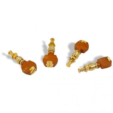WD 2 Per Side Deluxe Straight Friction Ukulele Tuning Machines Gold