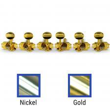 Kluson® 3 Per Side Prestige Series Vertical Mount Open Brass Gear Tuning Machines