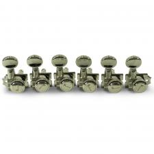 Kluson 6 In Line Locking Revolution Series H-Mount Tuning Machines With Staggered Posts