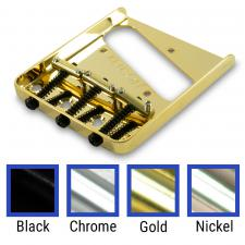 Kluson® Vintage Replacement Bridge For Fender Telecaster® Steel With Brass Saddles