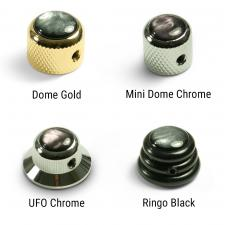 Q-Parts® Knobs With Black Acrylic Pearl Inlay