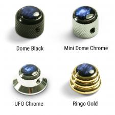 Q-Parts® Knobs With Blue Acrylic Pearl Inlay