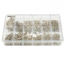 WD Music Products® Vintage Screw Shop In A Box Guitar Slot Head Screws Assortment
